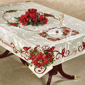 christmas tablecloth design and decoration ideas With christmas tablecloths and runners
