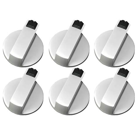 buy pcs metal eplacement knobs gas stove oven cooktop range burner rotary knob handle silver