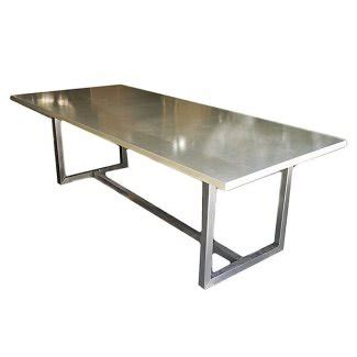 stainless steel top dining table foter