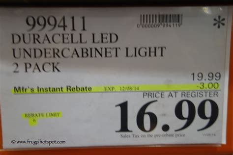 costco sale duracell durabeam ultra 2 pack wireless led