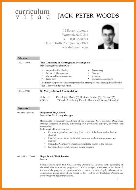 8 international cv format emt resume