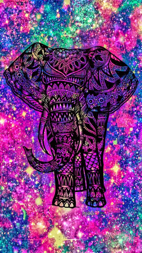 Tribal Animal Wallpaper - tribal elephant galaxy wallpaper androidwallpaper