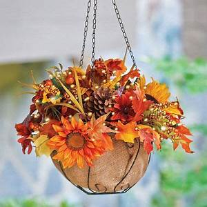 Glow Fall hanging baskets and I want on Pinterest