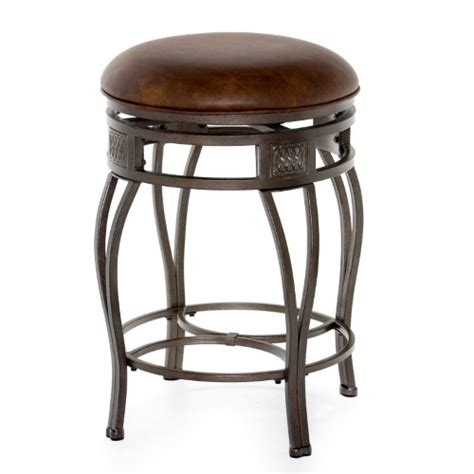 backless leather counter stools hillsdale furniture montello faux leather 26 in swivel 4247