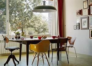 une salle a manger vintage aux objets heteroclites marie With salle À manger contemporaine avec déco scandinave vintage