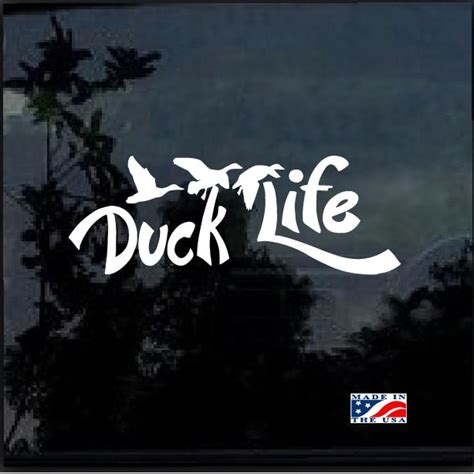 foto de Duck Life Duck Hunting Window Decal Sticker Custom