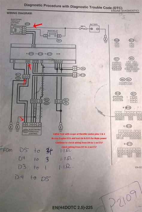 2004 Subaru Legacy Electrical Diagram by Subaru Forester Electronic Throttle Faults P2109 P G