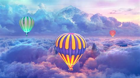 hot air balloons creative photography hd photography