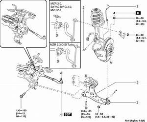 Mazda 3 Service Manual - Front Lower Arm Removal  Installation