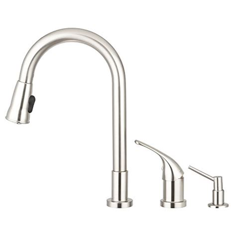 pacific sales kitchen faucets pacific bay grandview gooseneck style kitchen faucet in