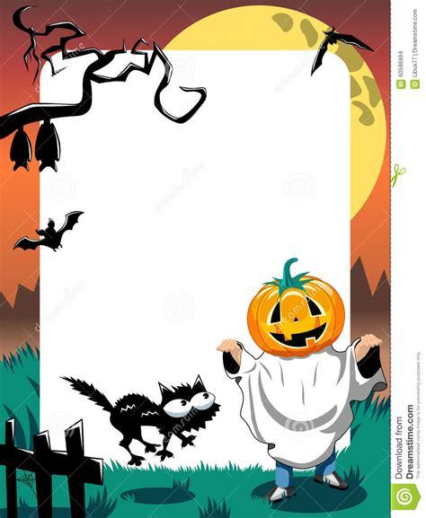 costume hallowen black 1 photo frame kid phantom vertical stock vector