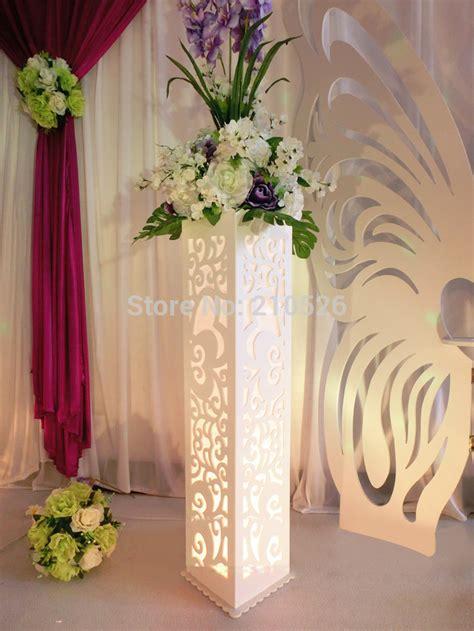 Popular Decorative Wedding Pillars Stands Flowers Buy Cheap Decorative Wedding Pillars Stands