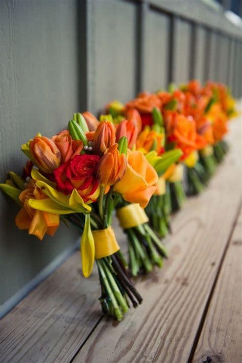 orange wedding flowers ideas  pinterest