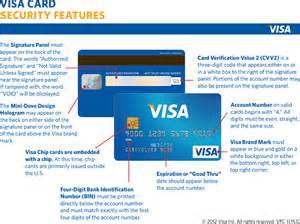 Visa Credit Card Security Features