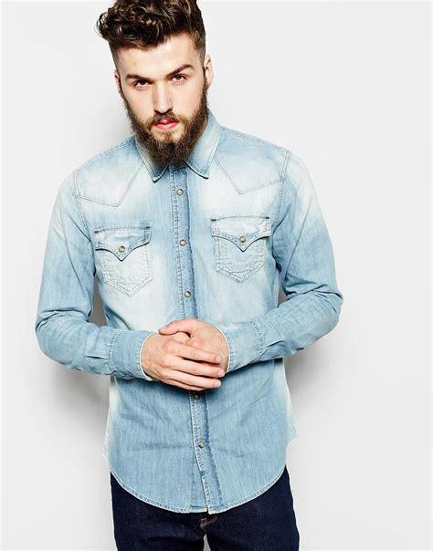 light denim shirt mens 10 s sleeve denim shirts for summer the