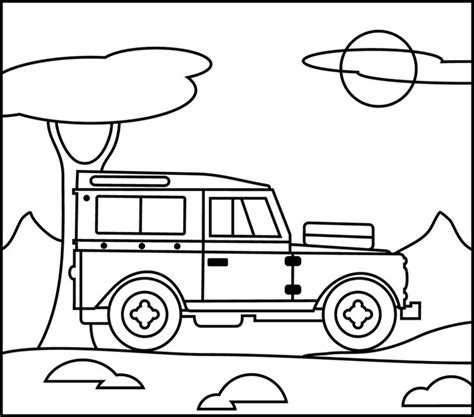 safari jeep coloring page 6 best images of free printable safari jeep jeep