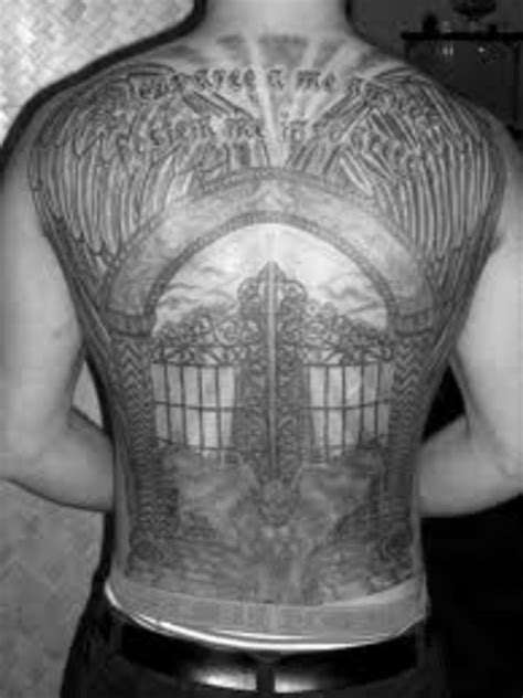 Gates of Heaven Tattoos-Heaven Tattoos And Meanings-Gates