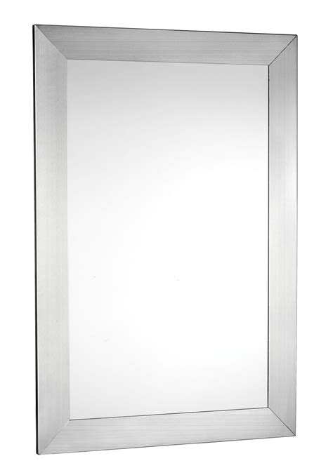Stainless steel mirror frame, brushed stainless steel