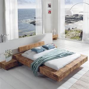 Cocktail Scandinave Lit : le grand lit poutre en pin massif aux lignes pur es ~ Melissatoandfro.com Idées de Décoration