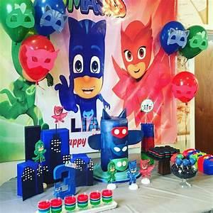 fiesta infantil tematica de pj mask (18) Decoracion de Fiestas Cumpleaños Bodas, Baby shower