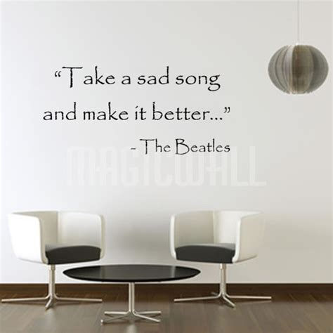 stickers ecriture chambre it better beatles inspiration wall lettering