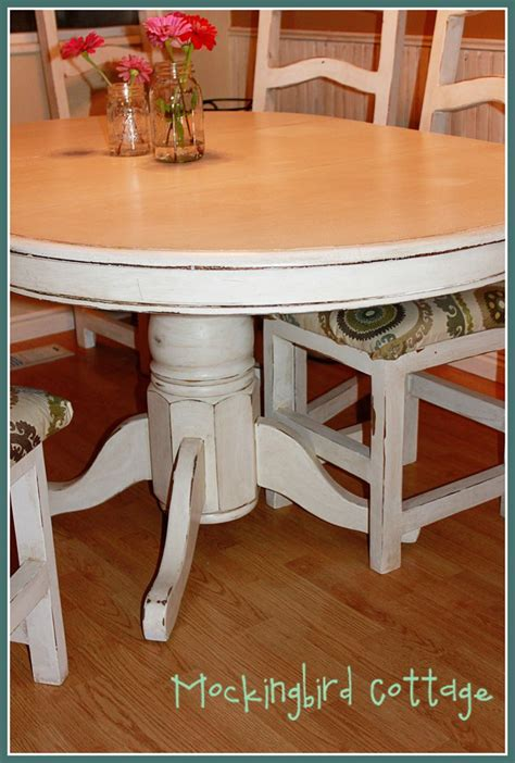 mockingbird cottage refinished kitchen table  chairs