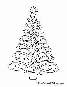 Christmas, Tree, Stencil, 14