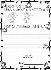 festive letter to santa for kinders if you like this With pre written christmas letters