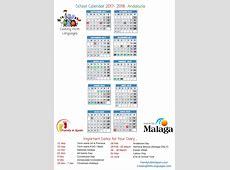 Printable School Calendar Spain Family Life in Spain
