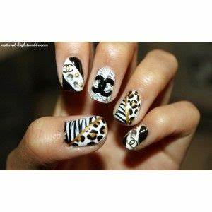 11 best Name brand nail art images on Pinterest | Chanel nails design Belle nails and Chanel ...