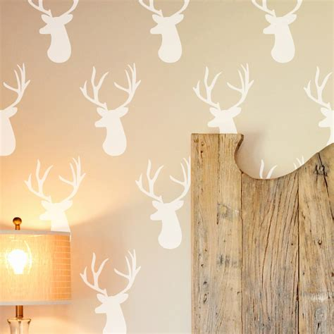 deer head wall stencil contemporary wall stencils  cute stencils