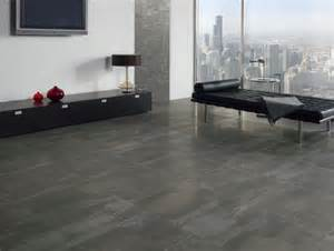 a statement with large floor tiles