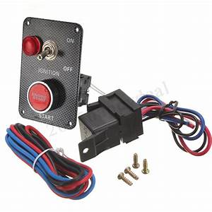 12v Ignition Push Button Engine Start Starter Switch Panel