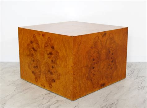 The cheapest offer starts at £15. Mid-Century Modern Milo Baughman Thayer Coggin Burl Wood Cube Coffee Table 1970s at 1stdibs