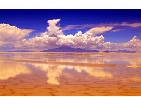 salar de uyuni salt pan reflection wallpapers