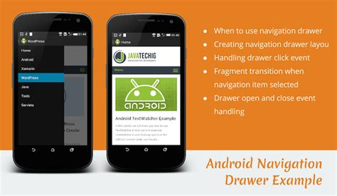 android navigation navigation drawer android exle stacktips