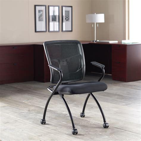 lorell 84374 mesh back fabric seat nesting chairs fabric