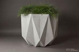Prisme Planter Grey Concrete  80 X 80 X 65 5cm  U2013 Award