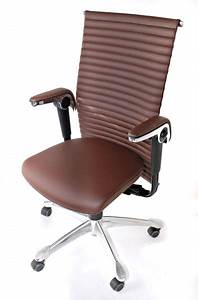 Bürostuhl Mit Armlehne : hag h09 modell 9320 leder braun b rostuhl mit armlehne stuhl24 shop ~ Whattoseeinmadrid.com Haus und Dekorationen