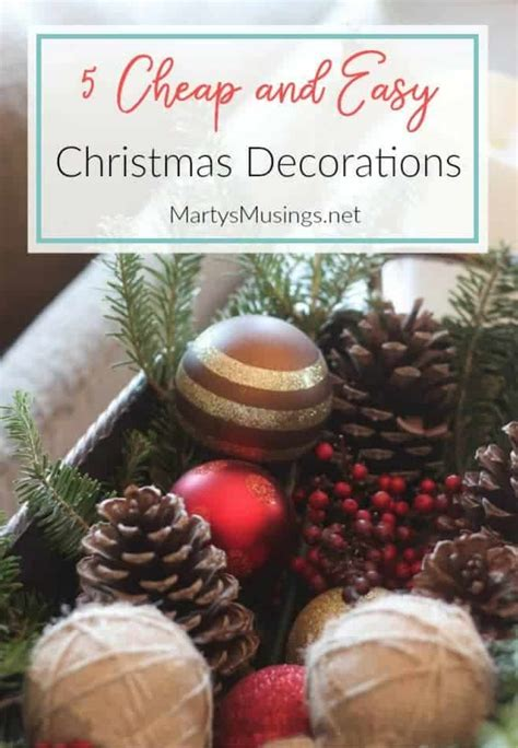 cheap christmas decorations   simple authentic home