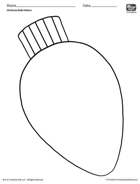 christmas bulb coloring pattern  coloring sheet