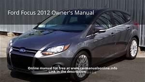2007 Ford Focus Maintenance Manual Diagram