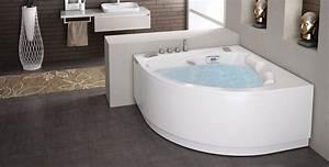 Grande Baignoire D Angle : salle de bain avec baignoire dangle ~ Edinachiropracticcenter.com Idées de Décoration