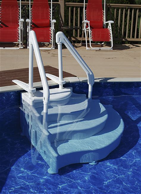 Above Ground Pool Steps For Decks by Above Ground Pool Steps And Above Ground Pool Ladders