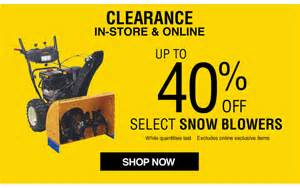 Snow Blower Clearance Sale