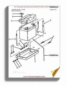 Cub Cadet Parts Manual For Model 1720 Sn 126001 147087