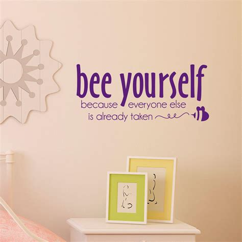 bee  wall quotes decal wallquotescom