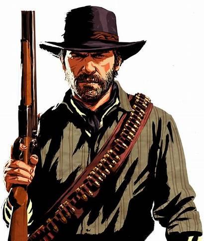 Redemption Dead Character Artwork Gang Morgan Edition