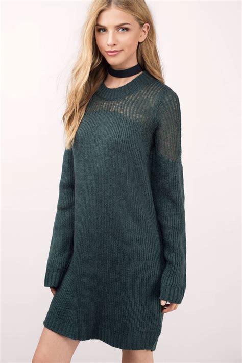 Green Sweater Dress | Ejn Dress