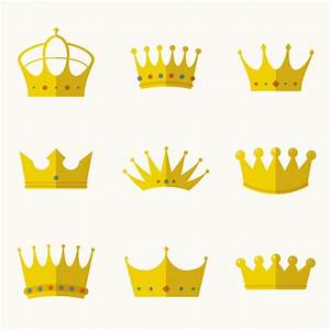 Crowns collection in flat design Vector | Free Download